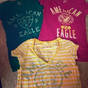 Set of 3 small ER graphic tees